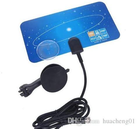 digital indoor tv antenna hdtv dtv hd vhf uhf flat design