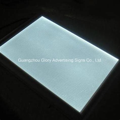 light guide plate suppliers china plastic pmma acrylic light guide plate lgp for led