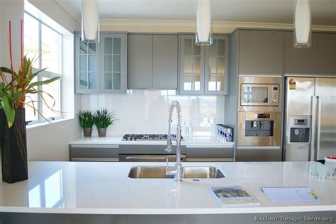 Pictures Of Kitchens Modern Gray Kitchen Cabinets Modern Gray Kitchen Cabinets