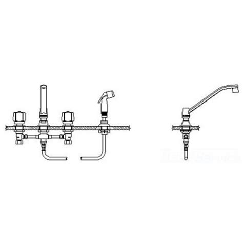 delta commercial 27c1151 kitchen faucet with spray cer