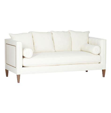 pembroke regency ivory linen nailhead sofa