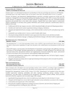 Transportation Operations Manager Sle Resume by Resume In Logistics Sales Logistics Lewesmr