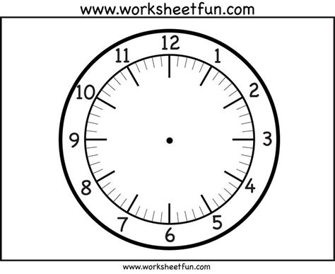 printable 7 inch clock face clock face printable worksheets pinterest clock