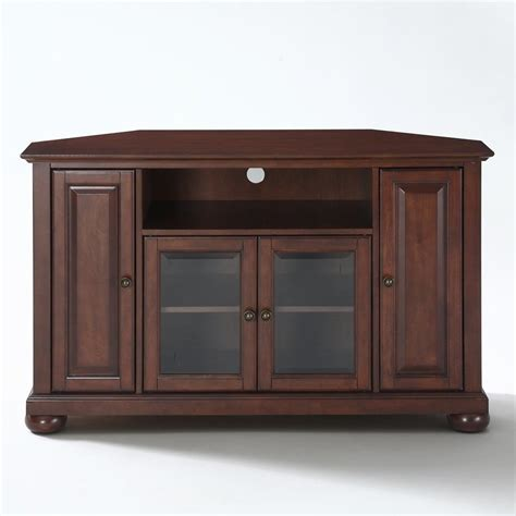 antique corner tv cabinet shop crosley furniture alexandria vintage mahogany corner