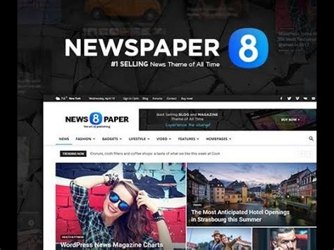 newspaper theme youtube newspaper 8 the best premium news wordpress theme by