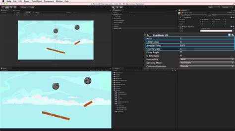 unity tutorial physics physics 2d overview unity tutorial