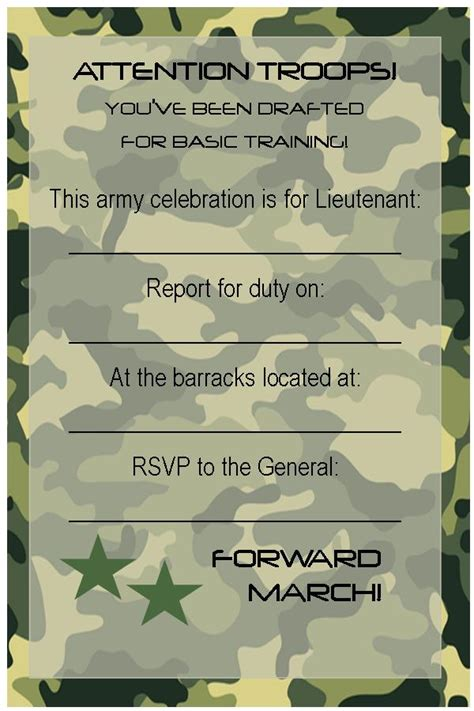 free printable army stationery paper free printable invitations army car racing swim party