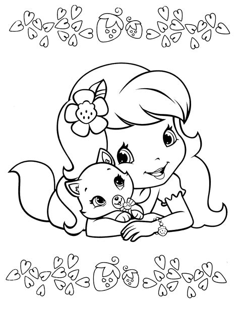 strawberry shortcake coloring pages bestofcoloring com