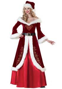 elegant mrs claus costume dress deluxe christmas costumes