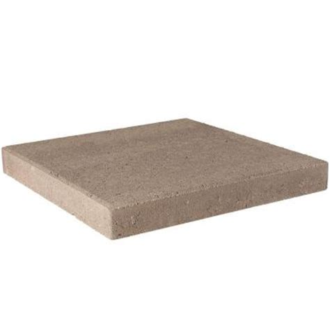 16x16 Patio Pavers Home Depot Pavestone 16 In X 16 In Pecan Concrete Step 72624 The Home Depot