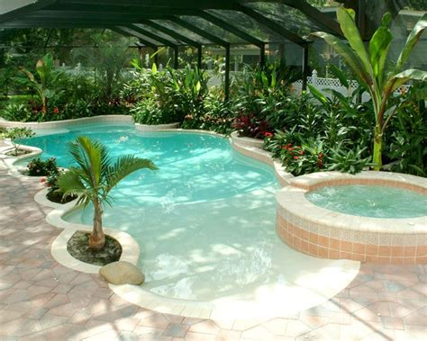 poolside designs swimming pools with beach entry in doors too pools