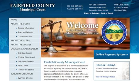 Portage County Clerk Of Court Records Fairfield County Municipal Court Pdf