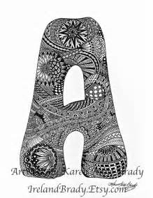 aceo complete a to z zentangle inspired alphabet by