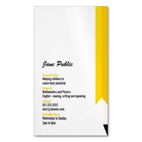 how to make magnetic business cards personal tutor pencil business card magnets magnetic