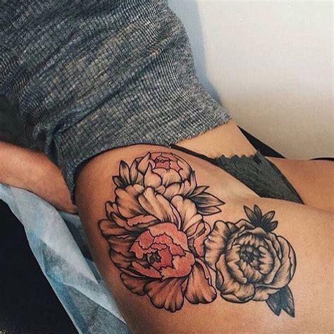 tattoo flower thigh flower thigh tattoo tattoos pinterest flower thigh