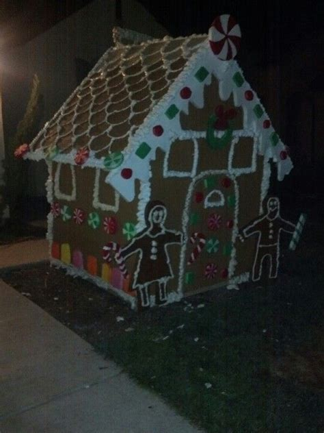 christmas lawn decoration gingerbread house nailed it