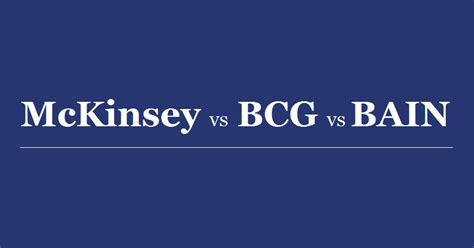 Kpmg Mba Consulting Salary by Mckinsey Vs Bcg Vs Bain Who Pays Mbas The Highest Salary