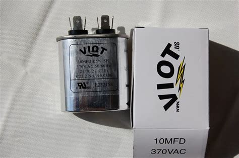 test capacitor blower motor cap 10 ufd compressor furnace blower fan motor start run capacitor oval 370v ul listed