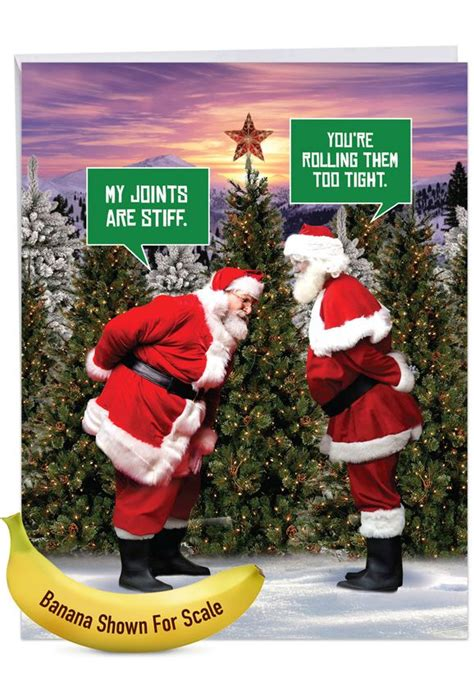 santa stiff joints funny merry christmas big card