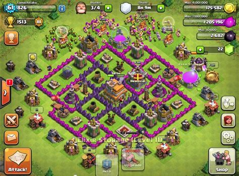 level 7 town hall war base www imgkid com the image level 7 town hall war base www imgkid com the image