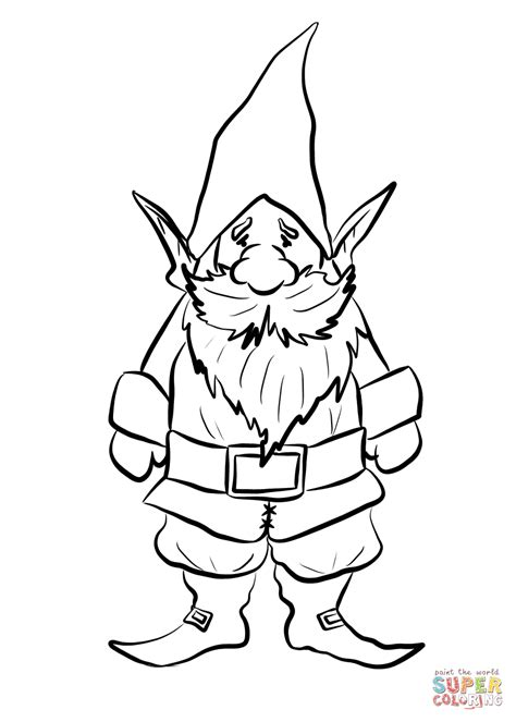 gnome coloring pages gnome coloring page free printable coloring pages