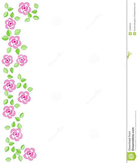 Wedding Side Border by Border Wedding Invitation Stock Vector Image