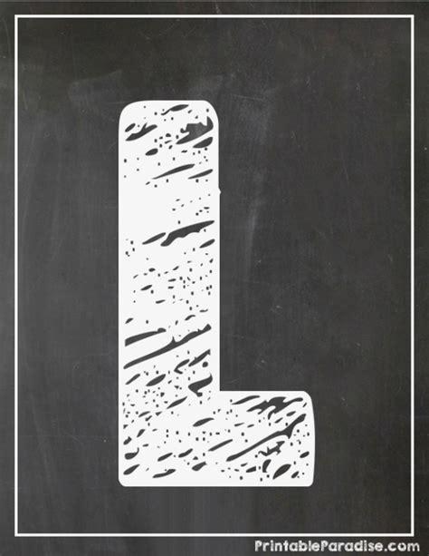 printable chalkboard letters printable letter l chalkboard writing print chalky letter l