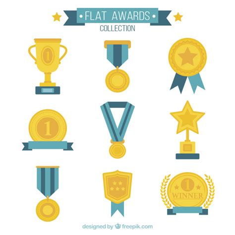 clipart collection free flat awards collection vector free