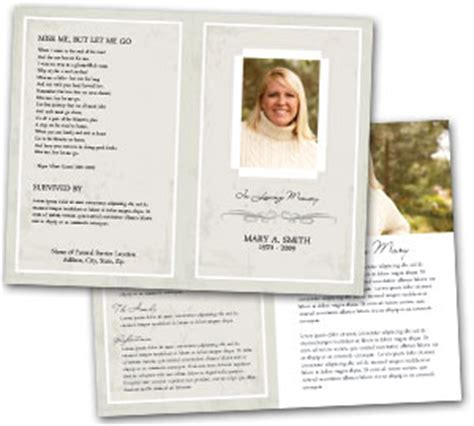 Graveside Funeral Service Outline by Free Obituary Template