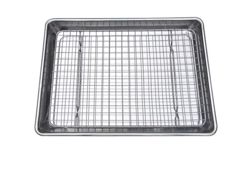 quarter sheet baking cooling rack and tray checkered chef