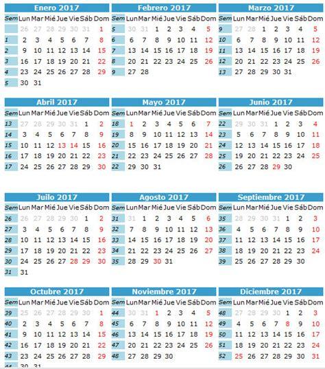 Calendario De Trabajo 2017 Calendario Laboral Calendario 2017