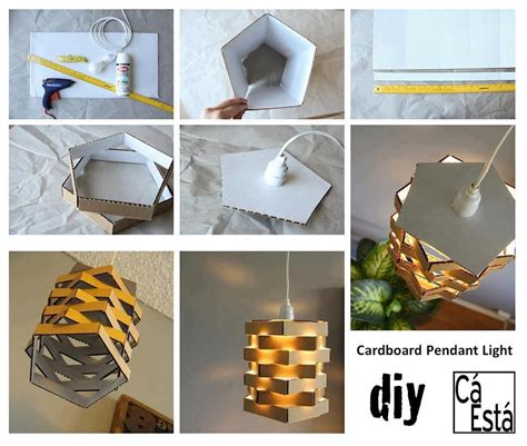 Handmade Projects - diy cardboard pendant light fabdiy