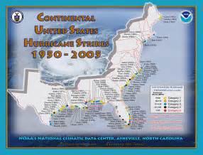 florida hurricane history map us hurricane landfall map 1950 2005 historical south