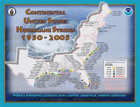 us hurricane history map us hurricane landfall map 1950 2005 historical south