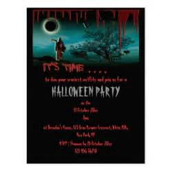 halloween party invitation template customize postcard