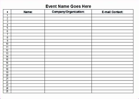 12 Sign Off Sheet Template Excel Exceltemplates Exceltemplates Microsoft Excel Sign In Sheet Template