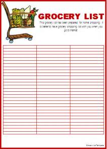 Free Printable Grocery List Templates Grocery List Template Word Templates