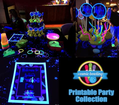 black light party supplies cosmic bowling party cake ideas 31838 gallery of black lig