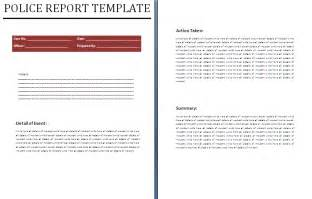 Free Download Sample Police Report Template Excel Templates