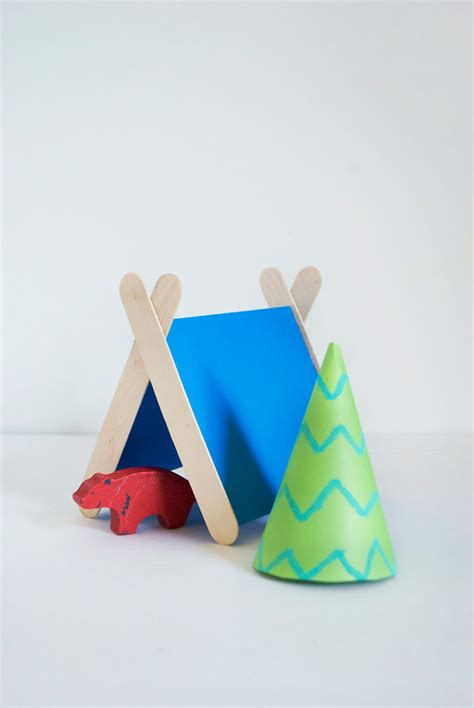 tent craft for from popsicles to craft projects handmade