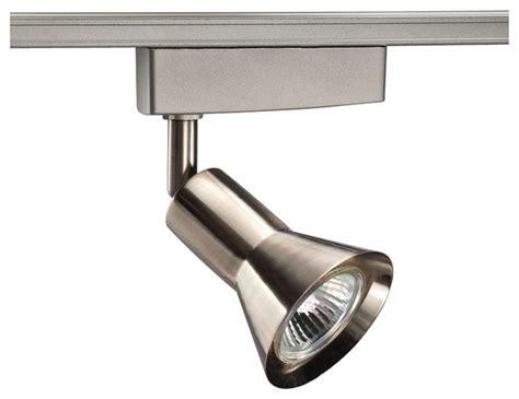 Modern Track Lighting by Juno Flare Satin Chrome Led Mr16 Low Voltage Track Light