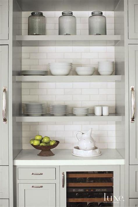 grey floating shelves stacked gray floating kitchen shelves transitional kitchen