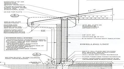 typical wall section wall section detail drawing typical wall section detail