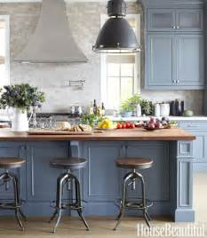 Blue Gray Kitchen Cabinets Blue Gray Cabinets Contemporary Kitchen Farrow Pipe House Beautiful