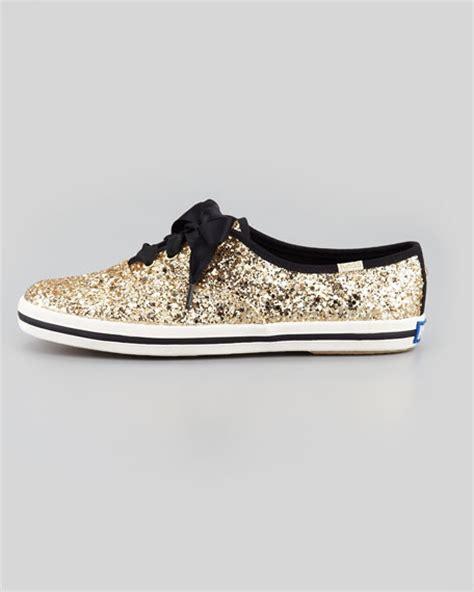 Kate Spade Keds Glitter Sneakers Gold kate spade new york keds glitter sneaker gold