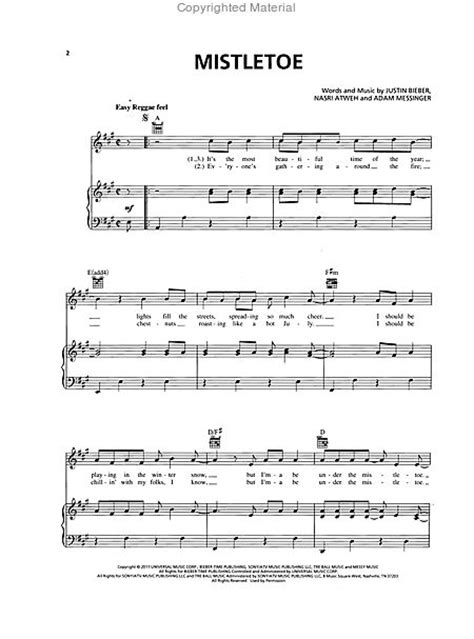 justin bieber mistletoe acoustic guitar chords mistletoe sheet music by justin bieber sku hl 354257
