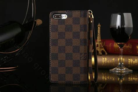 buy wholesale lv louis vuitton pattern genuine leather cases retro flip holster cover for iphone