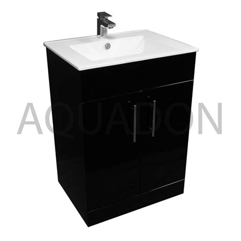 Black Vanity Units For Bathroom Bathroom Cloakroom Black Furniture Vanity 610 Unit Basin Tap Options Bcnaob610b Ebay