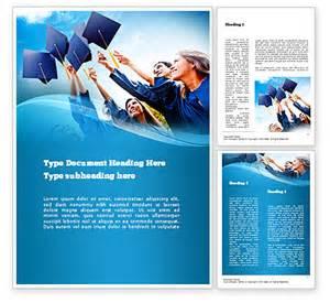 graduation brochure templates graduation ceremony word template 11019 poweredtemplate