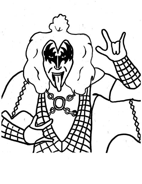 the band kiss free coloring pages